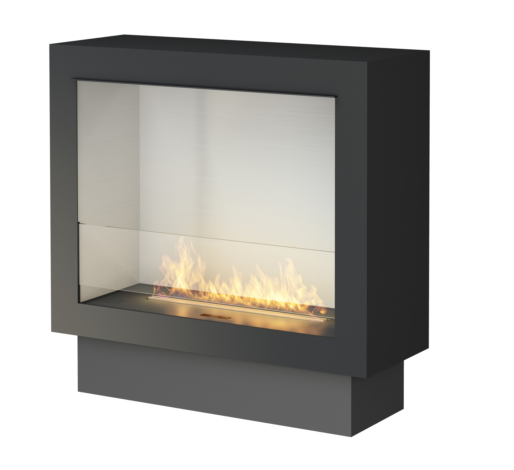 primebox fireplace with remote control by planika