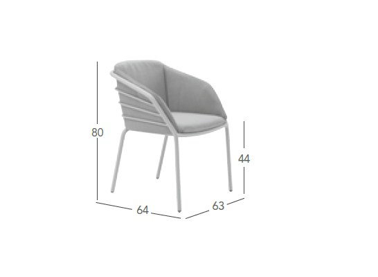 Stackable Garden Chair With Armrests Provence By Solpuri Design