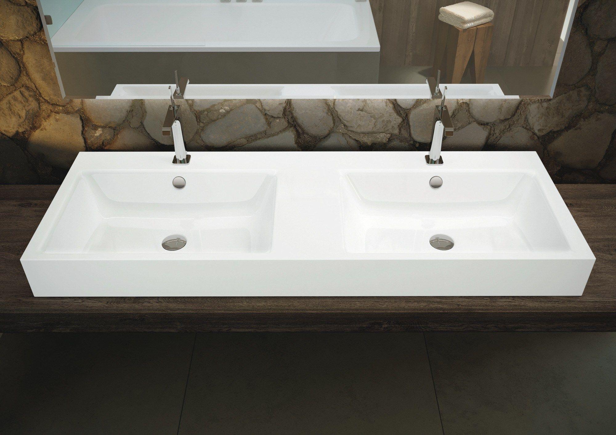 Puro doppel waschbecken by kaldewei italia design anke for Kaldewei waschbecken