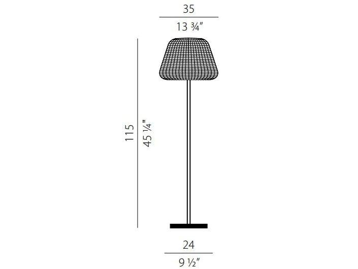 Ralph rattan floor lamp by panzeri dimensions ralph rattan floor lamp mozeypictures Choice Image
