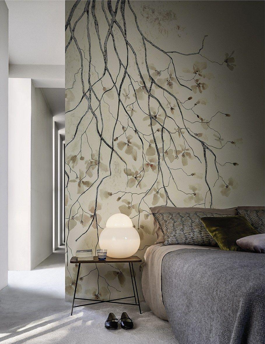 Wallpaper ramage by wall dec design antonella guidi for Carta da parati contemporanea