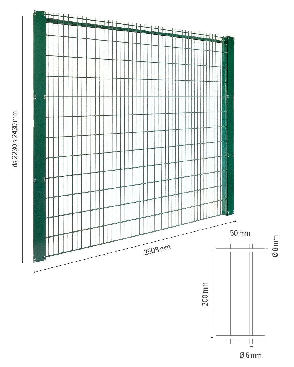 Welded mesh fence RECINTHA® STADIUM By NUOVA DEFIM