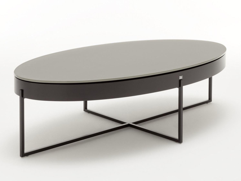 table basse ovale avec rangement rolf benz 8440 by rolf. Black Bedroom Furniture Sets. Home Design Ideas