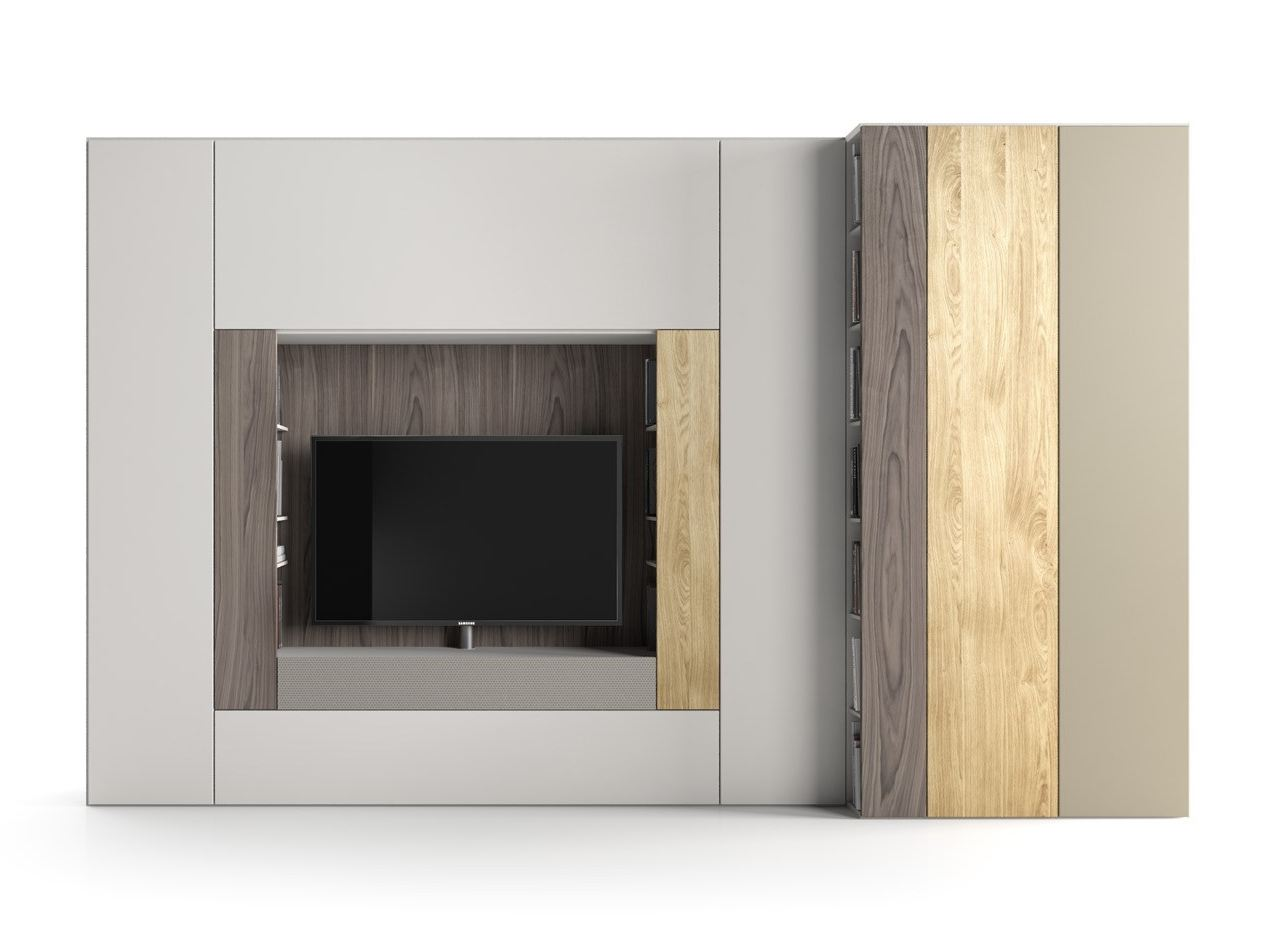 Roomy tv wall system by caccaro design sandi renko for Caccaro roomy