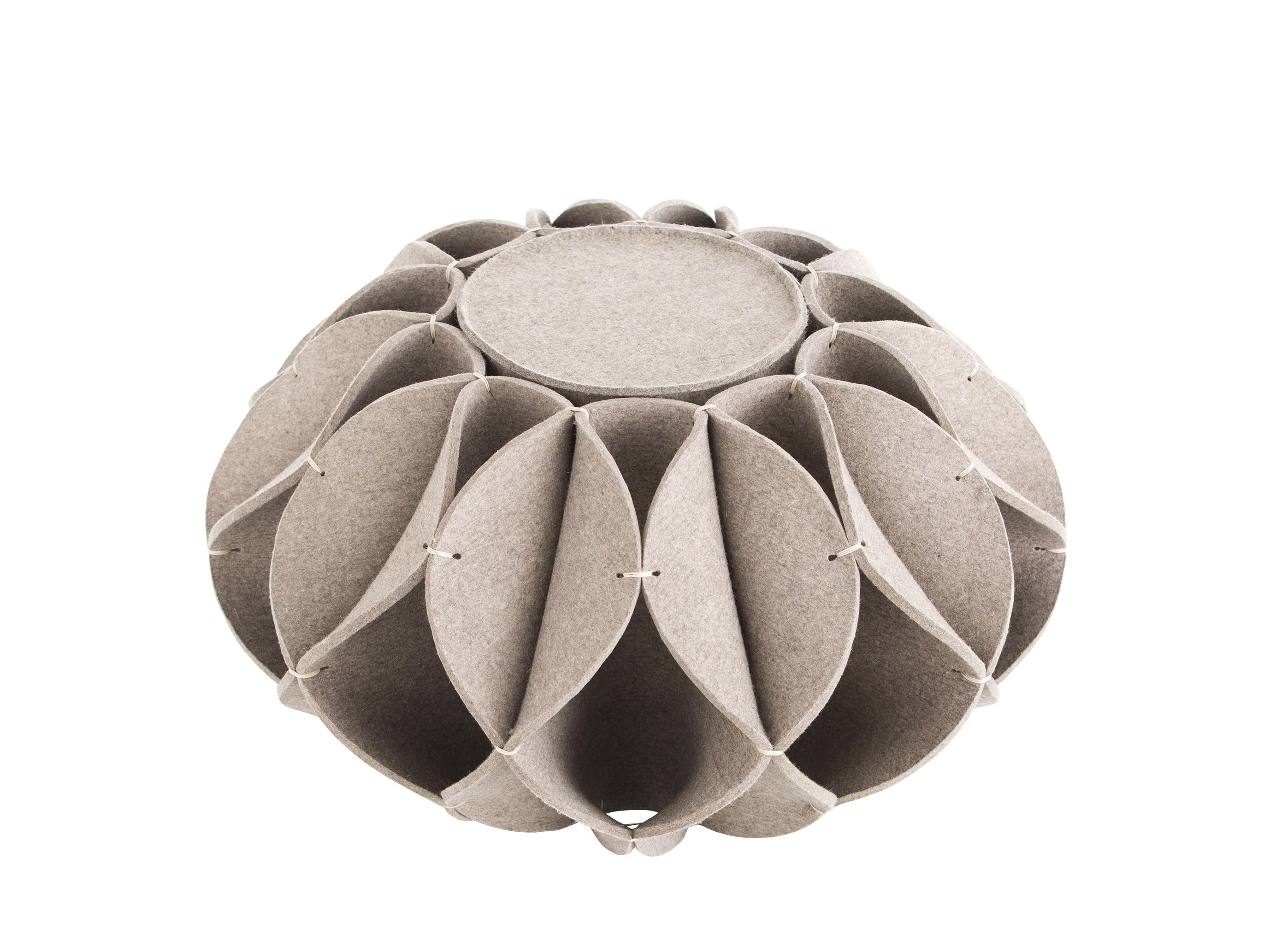 Wool felt pouf ruff pouf hight ruff pouf collection by gan design romero vallejo - Design pouf ...