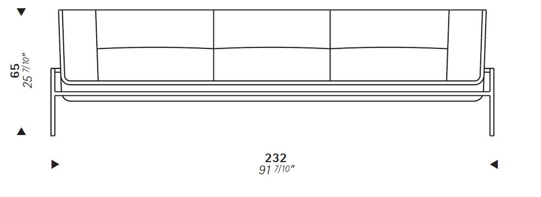 Dimensions SA23   3 Seater Sofa ...