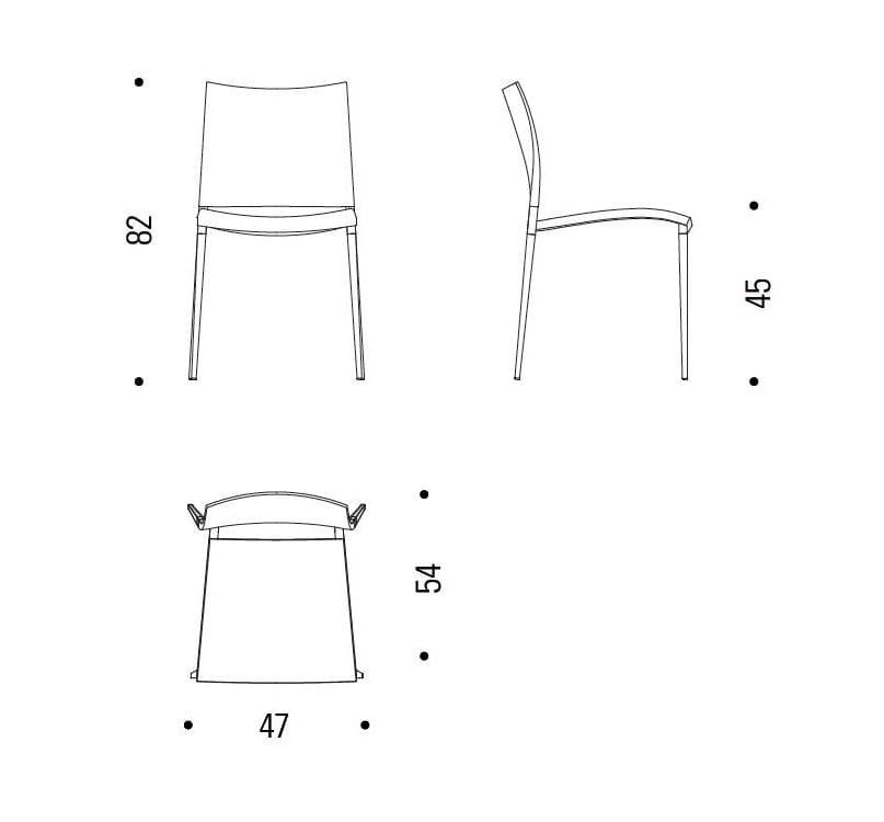 SAND | Silla de polipropileno By Desalto diseño Claudio Dondoli ...