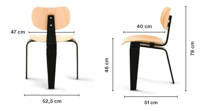 Stuhl Aus Holz Se 42 By Wildespieth Design Egon Eiermann