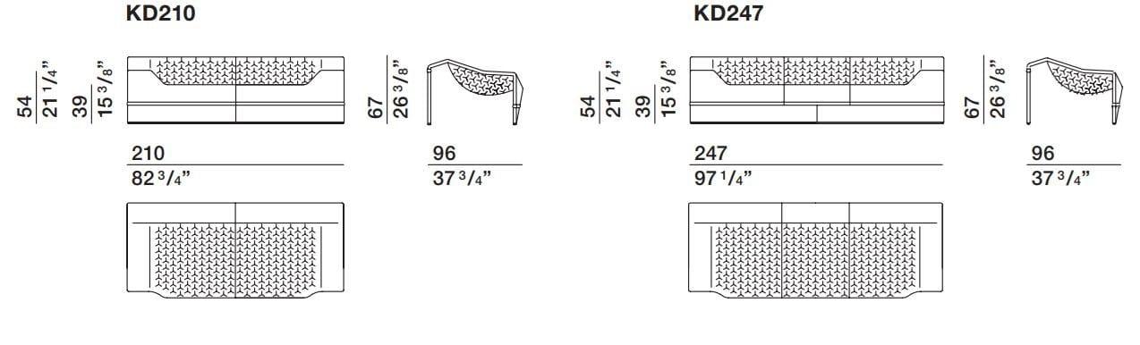 Dimensions SKIN | Sofa