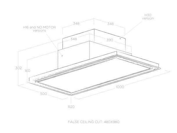 Klasse a einbau dunstabzugshaube skydome by elica design fabrizio crisà