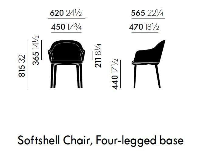 Gepolsterter stuhl softshell chair four legged base for Stuhl design dwg