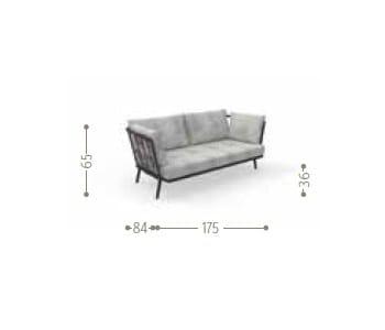 Dimensions SOHO | 2 seater garden sofa