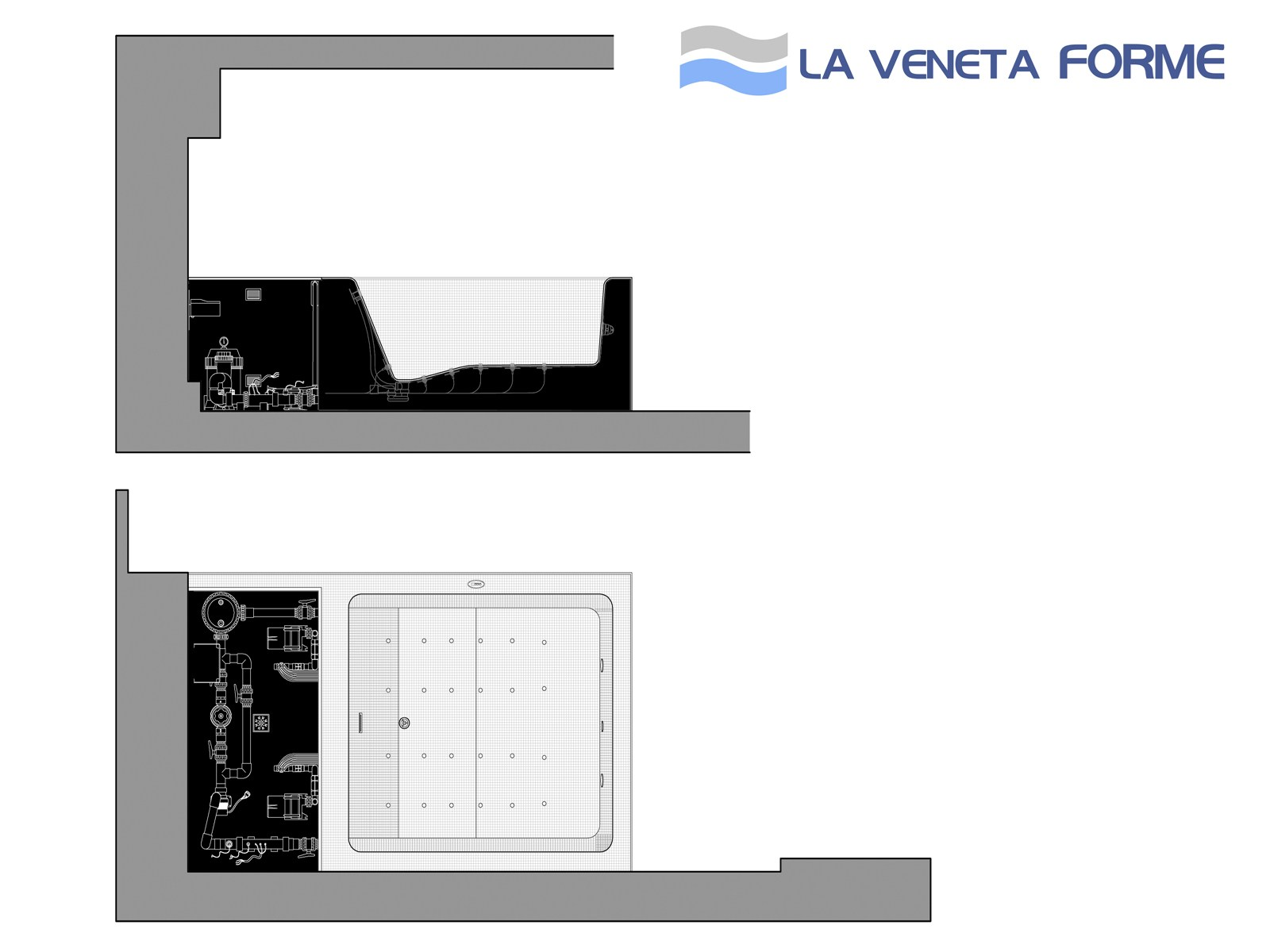 Whirlpool EPS bathtub custom made SPA Hydromassage tubs By La Veneta ...
