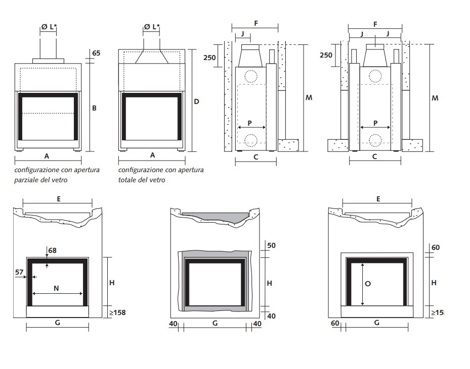 Double-sided wood-burning glass and steel fireplace STÛV 21-75 DF By ...