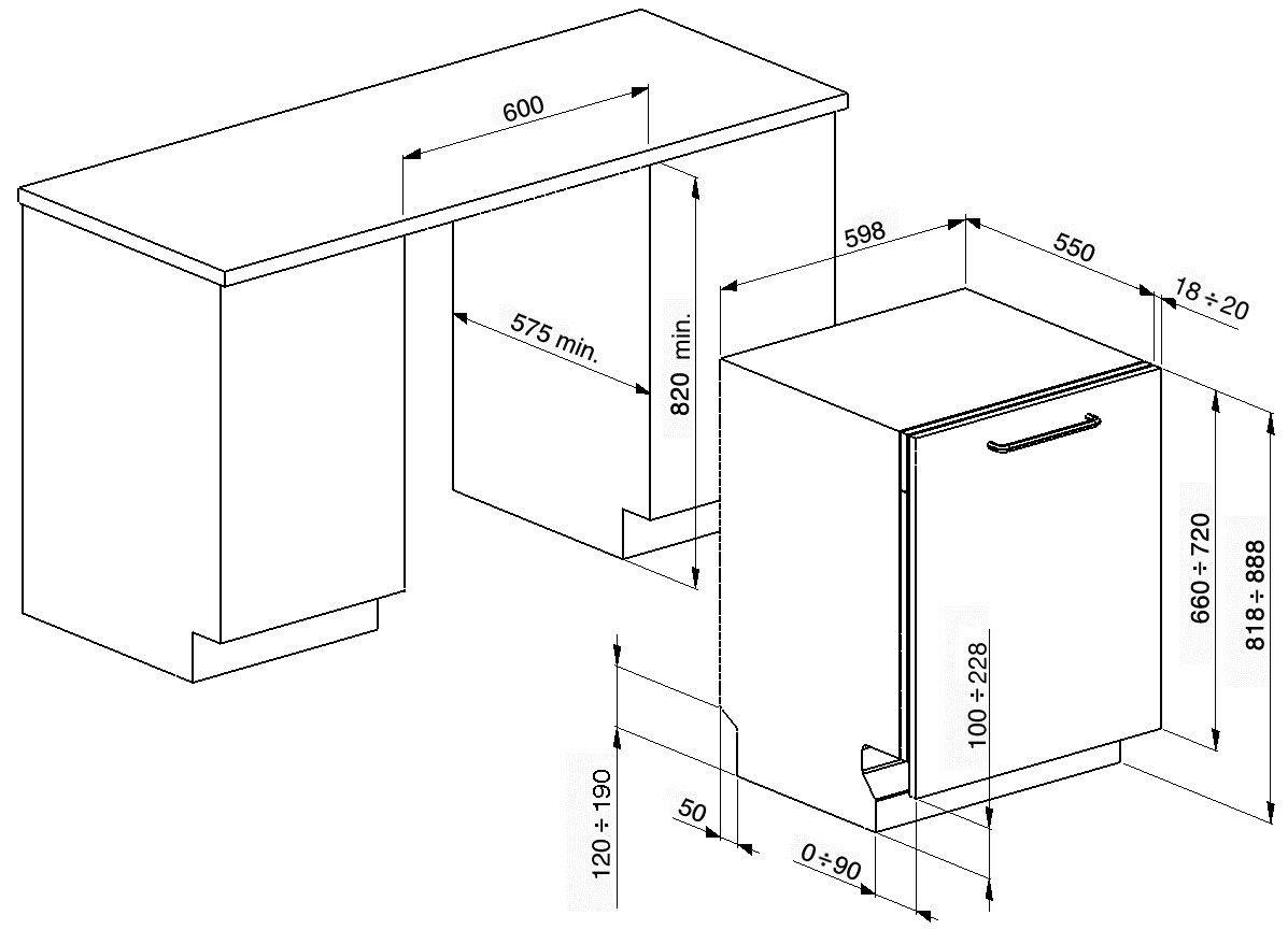 Awesome Dimensioni STA6539L3 | Lavastoviglie Classe A++ Dimensioni STA6539L3 |  Lavastoviglie Classe A++