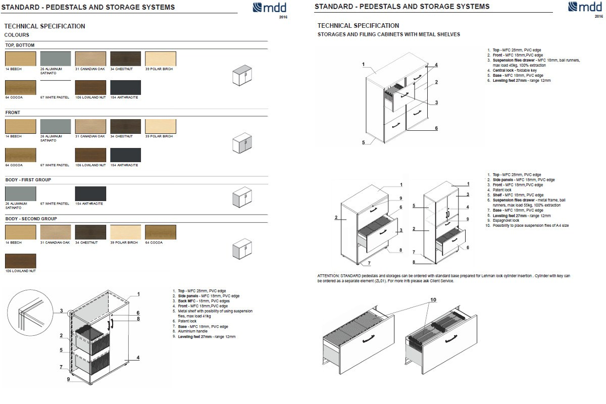 Dimensions Standard Office Shelving