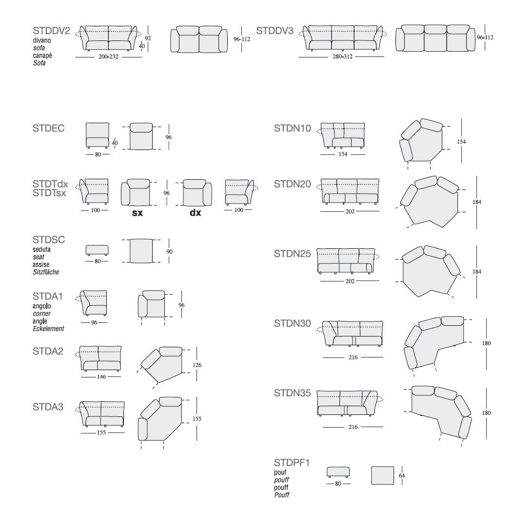 Picture of: Standard Sofa By Edra Design Francesco Binfare