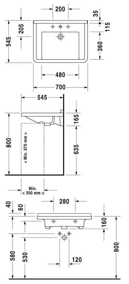 starck 3 washbasin for disabled by duravit design philippe starck. Black Bedroom Furniture Sets. Home Design Ideas