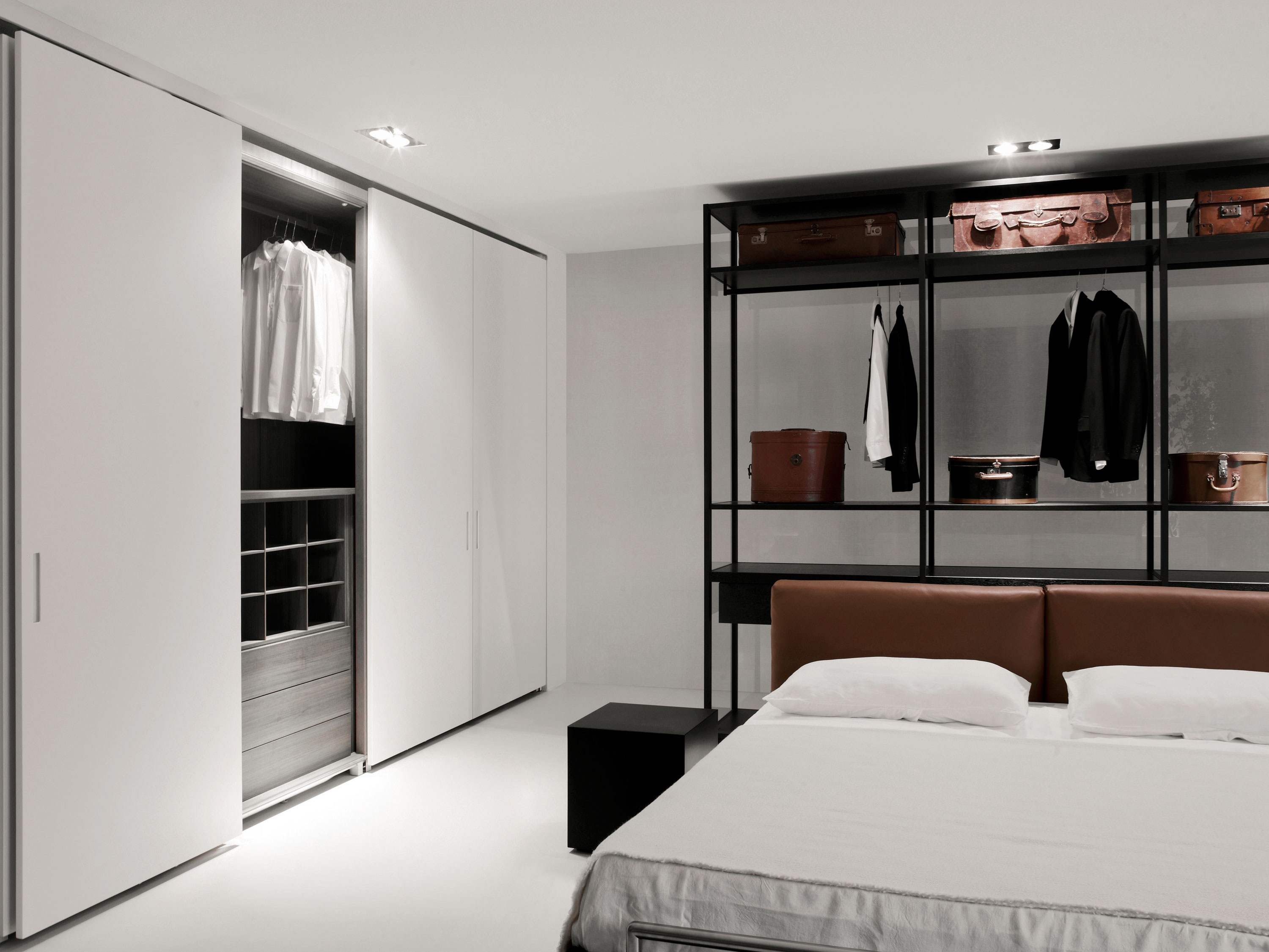 storage wardrobe with coplanar doors by porro design piero 11097 | storage porro 11097 rela2c8769c