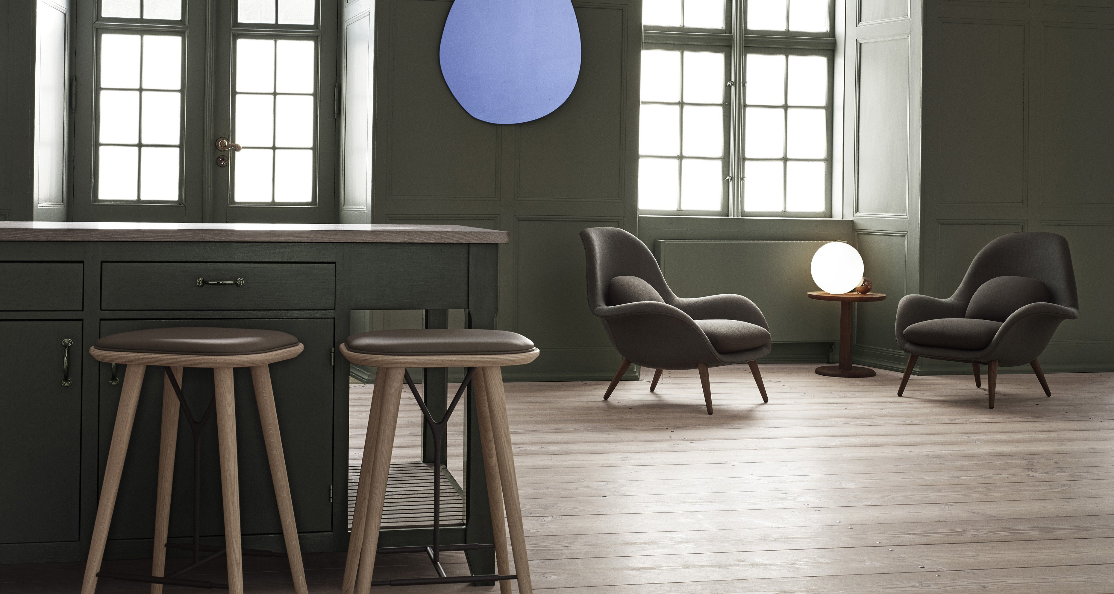 Swoon Fabric Easy Chair By Fredericia Furniture Design Space