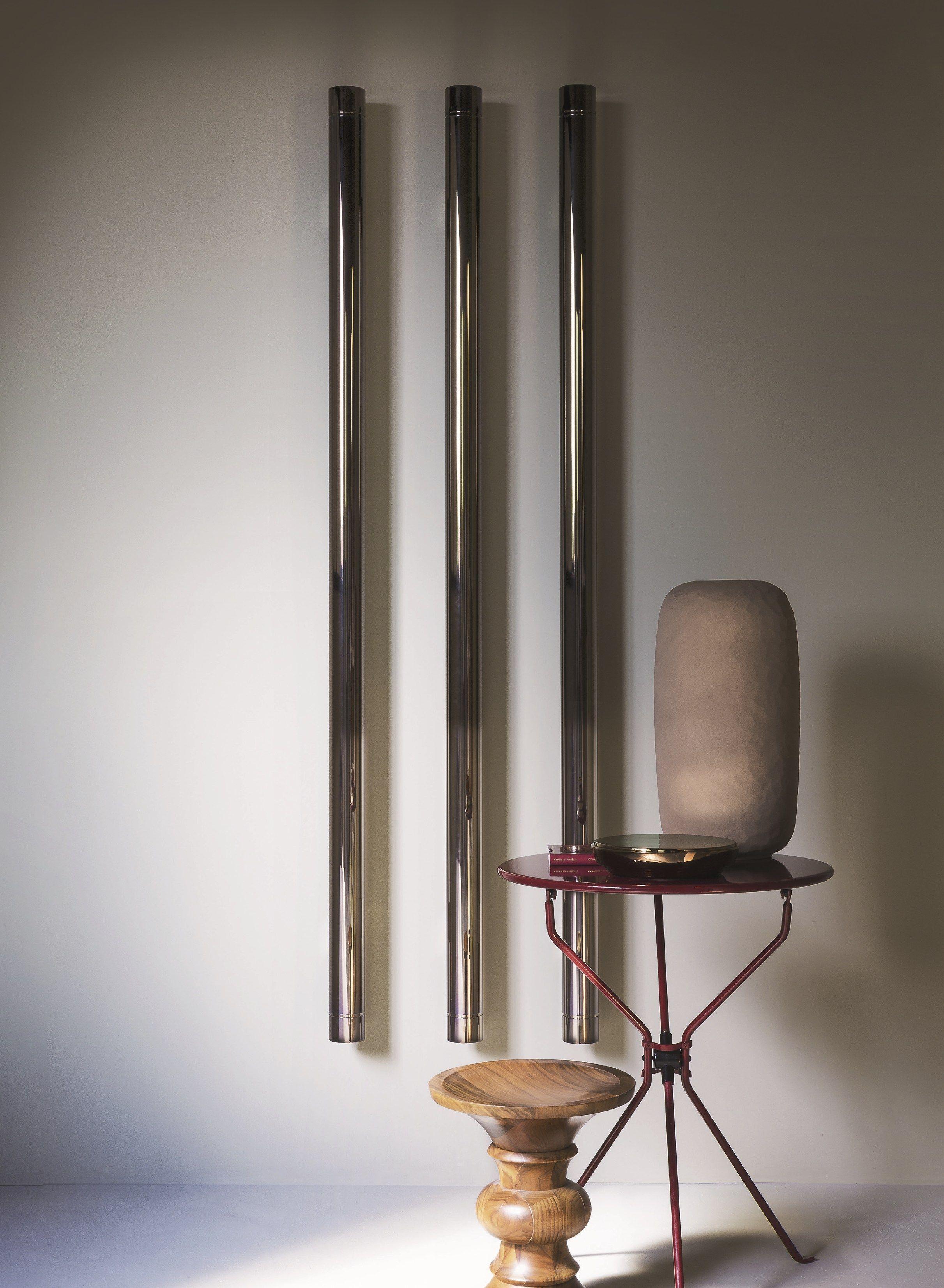 T b t vertical decorative radiator by tubes radiatori for Termoarredo salone