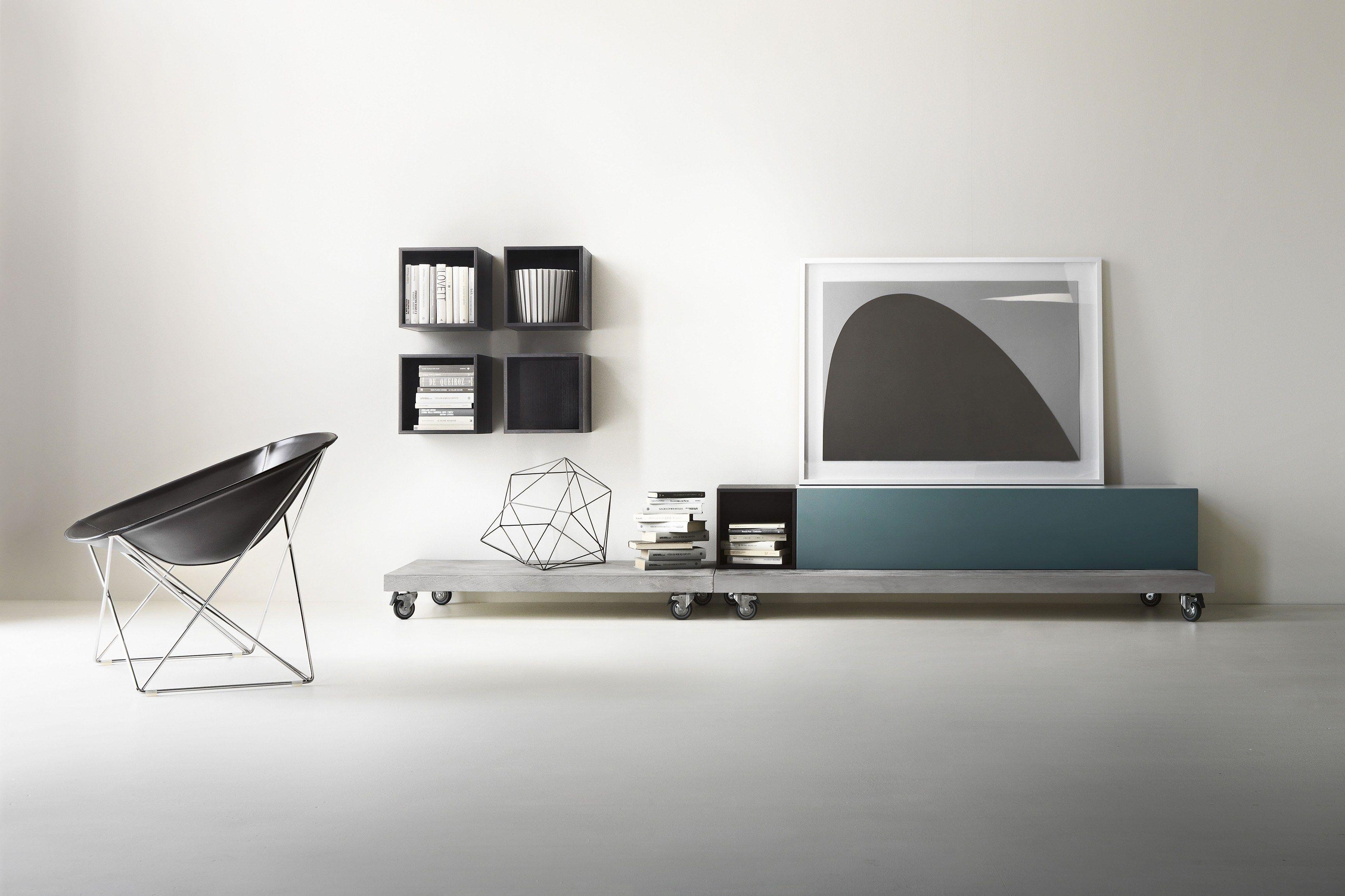 T030 storage wall by lema design piero lissoni for Mobili bassi soggiorno