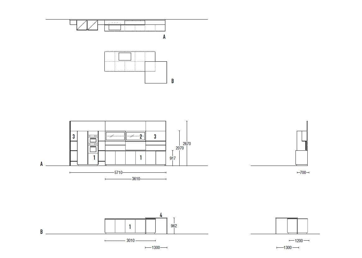 TELERO | Küche mit Kücheninsel By Euromobil Design Roberto Gobbo