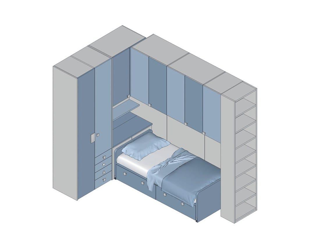 schlafzimmer mit bettbrücke tiramolla - configuration 335 kollektion