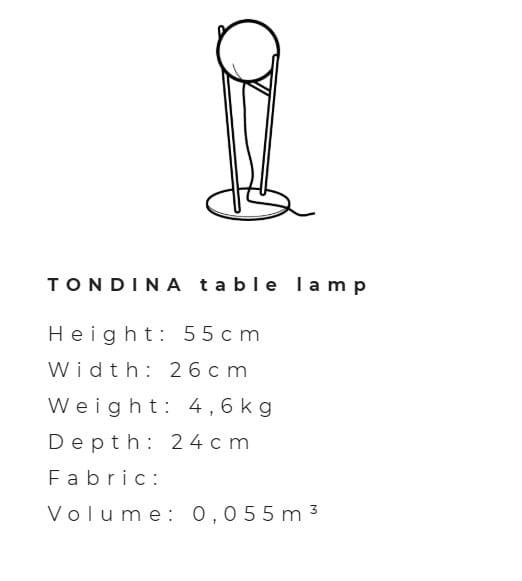 TONDINA | Lampada da terra Collezione Tondina By Ditre