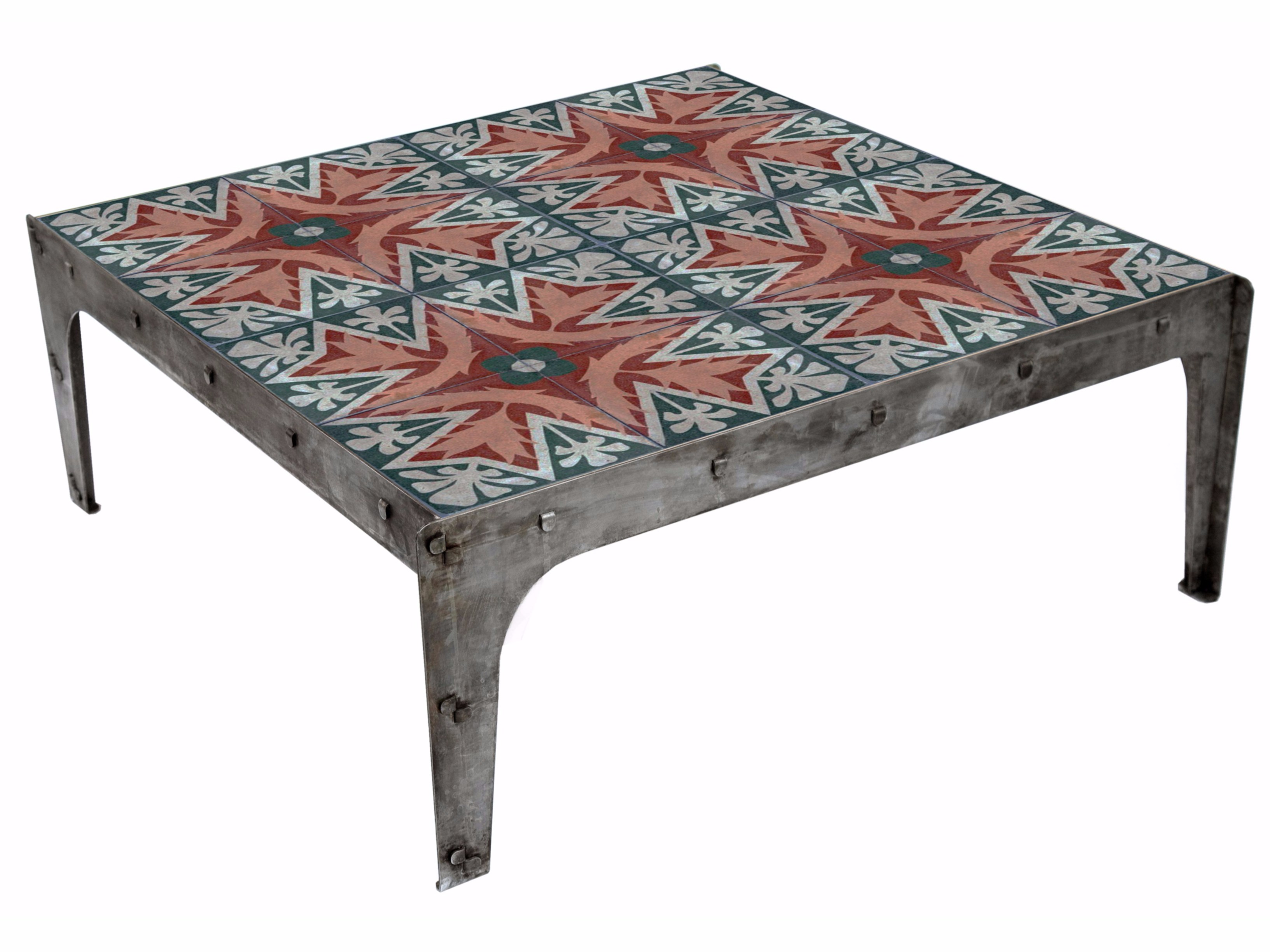 Square metal coffee table for living room WIRE By Ronda Design