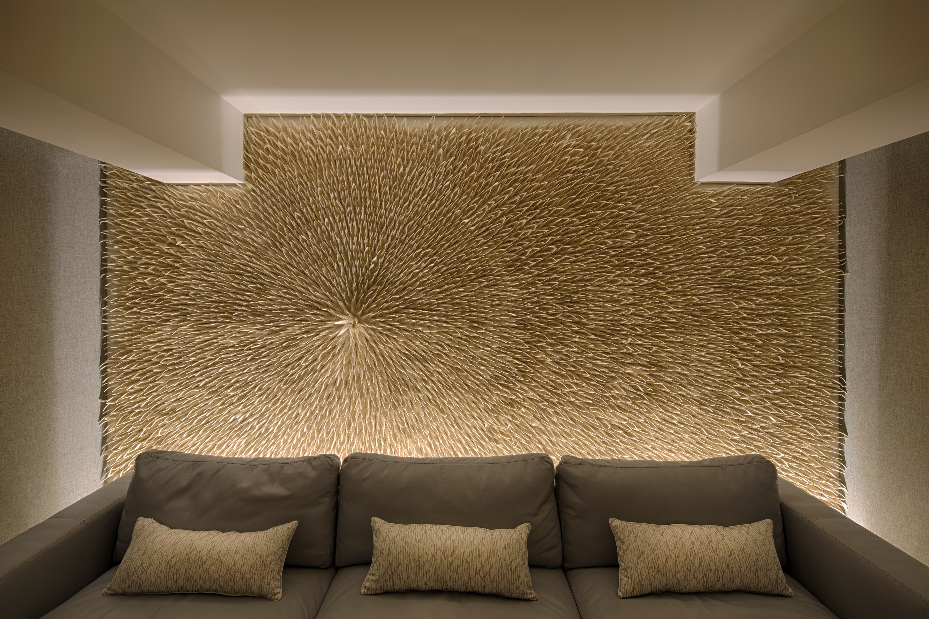 Tulip Radial Wool Felt Decorative Acoustical Panel By
