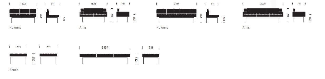 Sofa Tuxedo Collection By Herman Miller