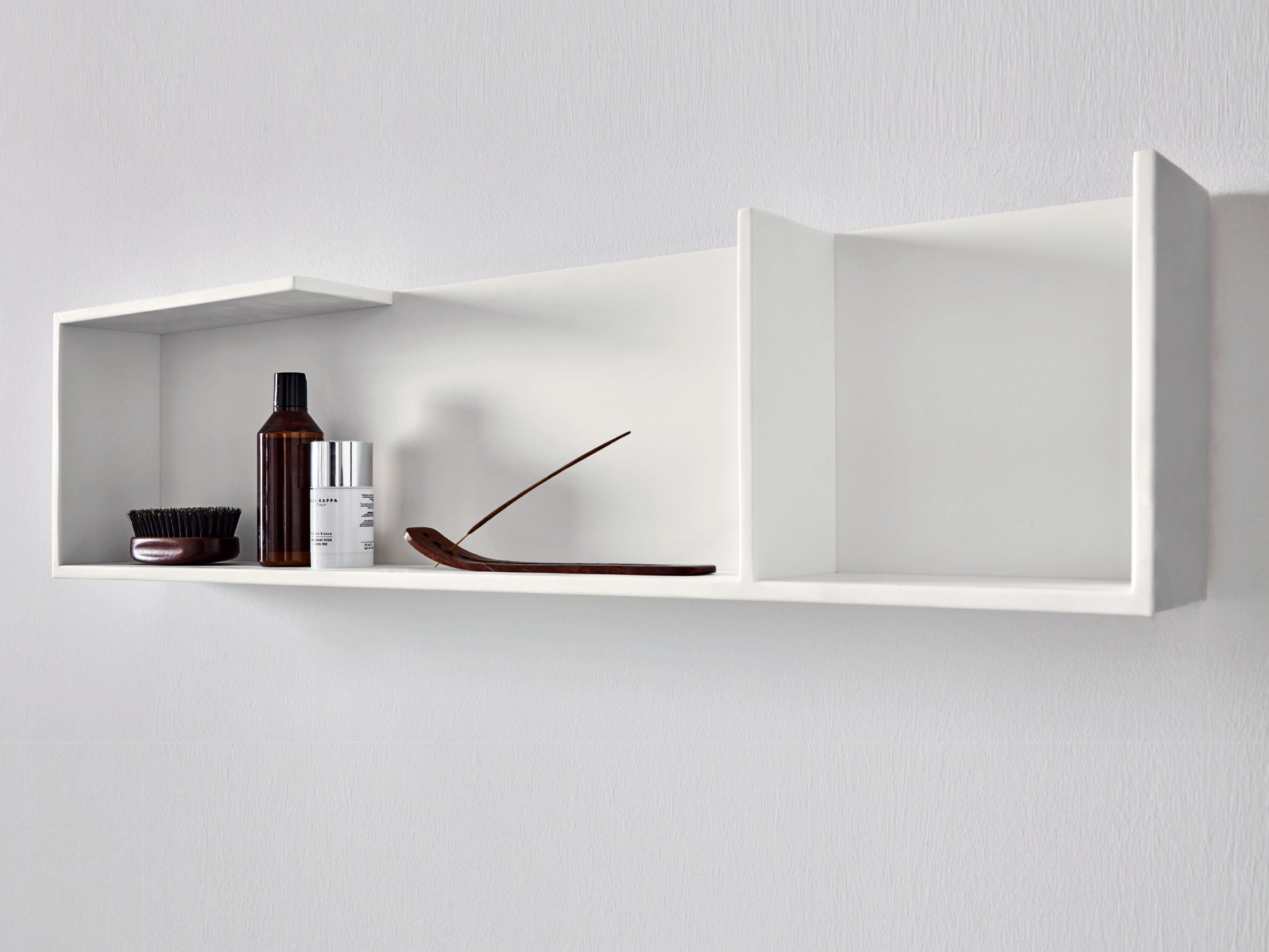 Bathroom wall shelf - Corian Bathroom Wall Shelf Unico Bathroom Wall Shelf