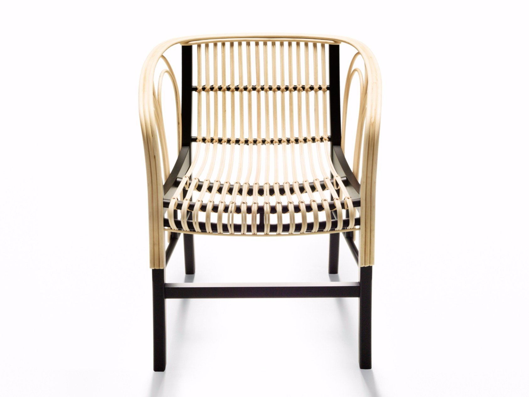 Woven wicker chair with armrests CYBORG CLUB Cyborg Collection By