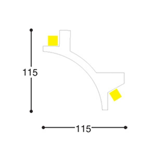 double cove lighting cornice by eleni rh archiproducts com Lightning Diagram House Wiring Diagrams for Lights