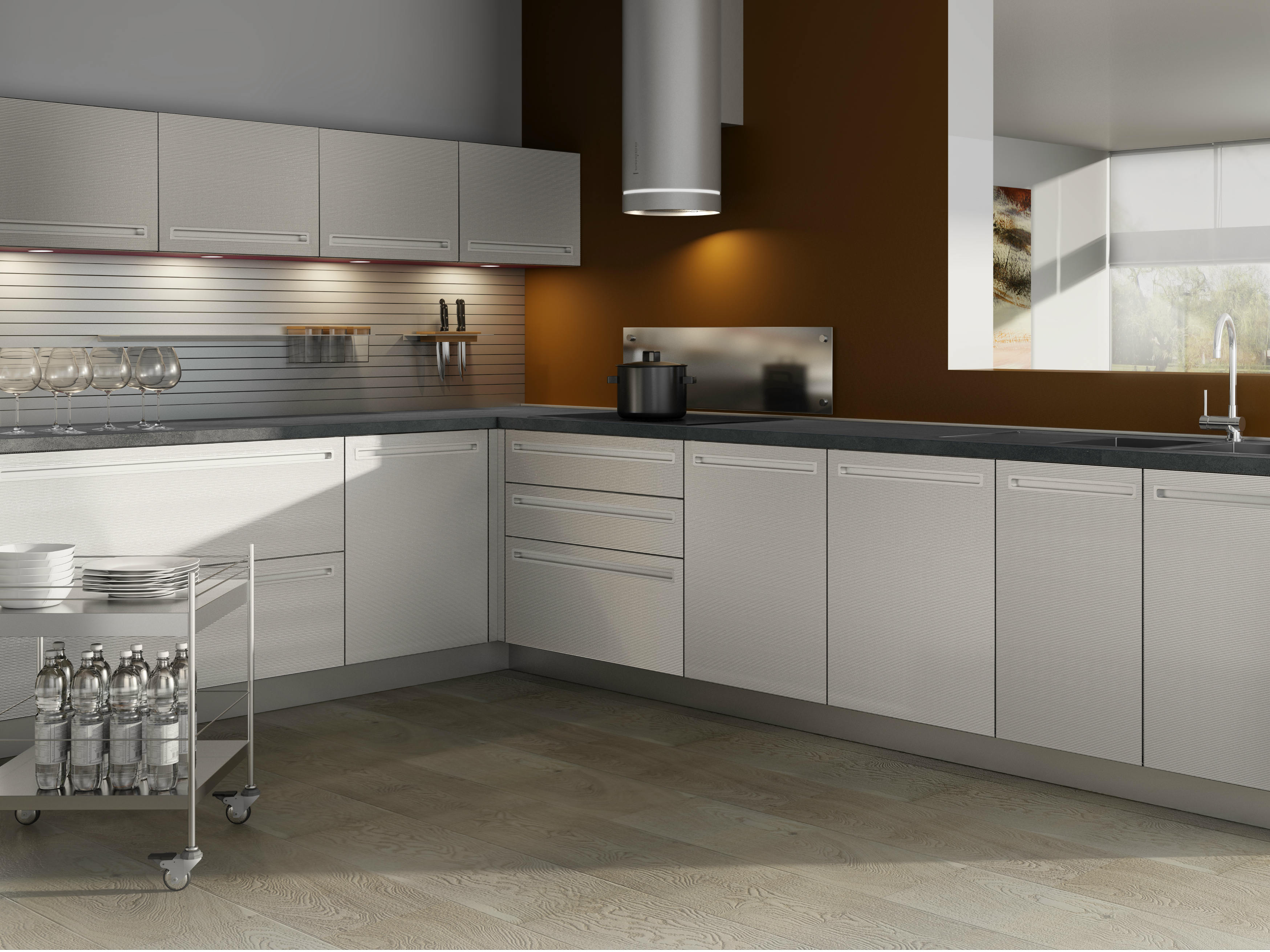 Linear HPL Kitchen Without Handles VELVE | Kitchen Without Handles Velve  Collection By De Rosso