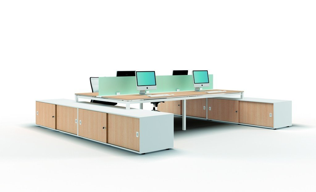 X4 workstation desk by quadrifoglio for Quadrifoglio sistemi d arredo