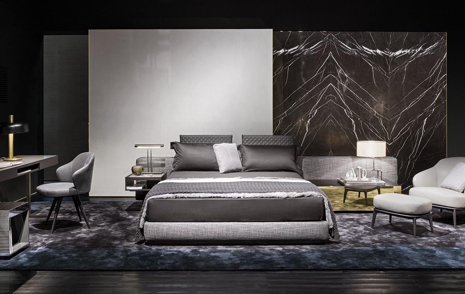 Bed Yang Bed Wide By Minotti