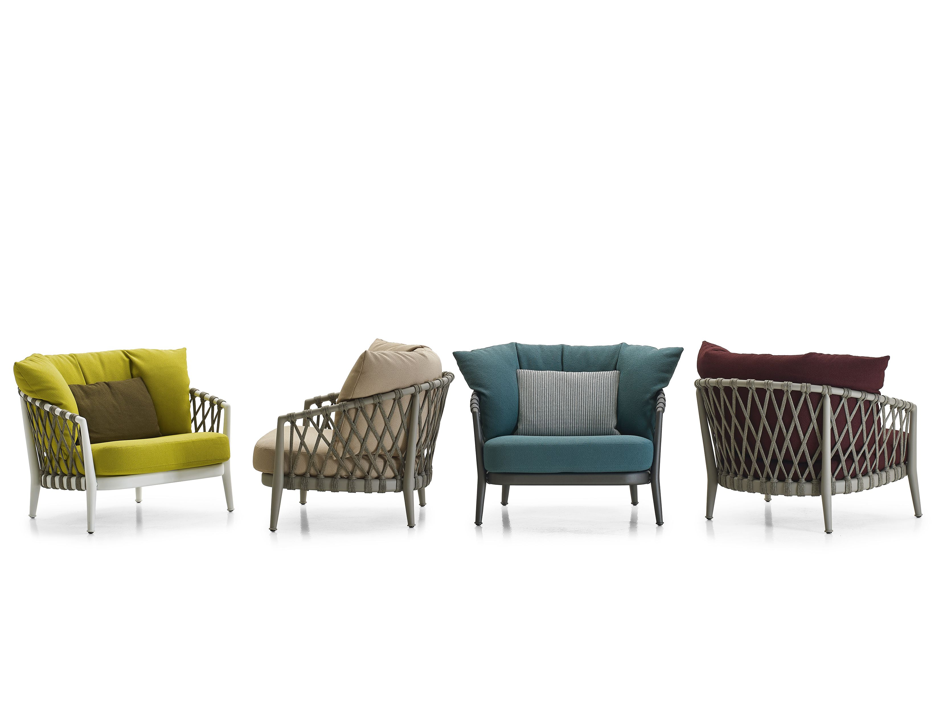 Erica armchair erica collection by b b italia outdoor for B b outdoor