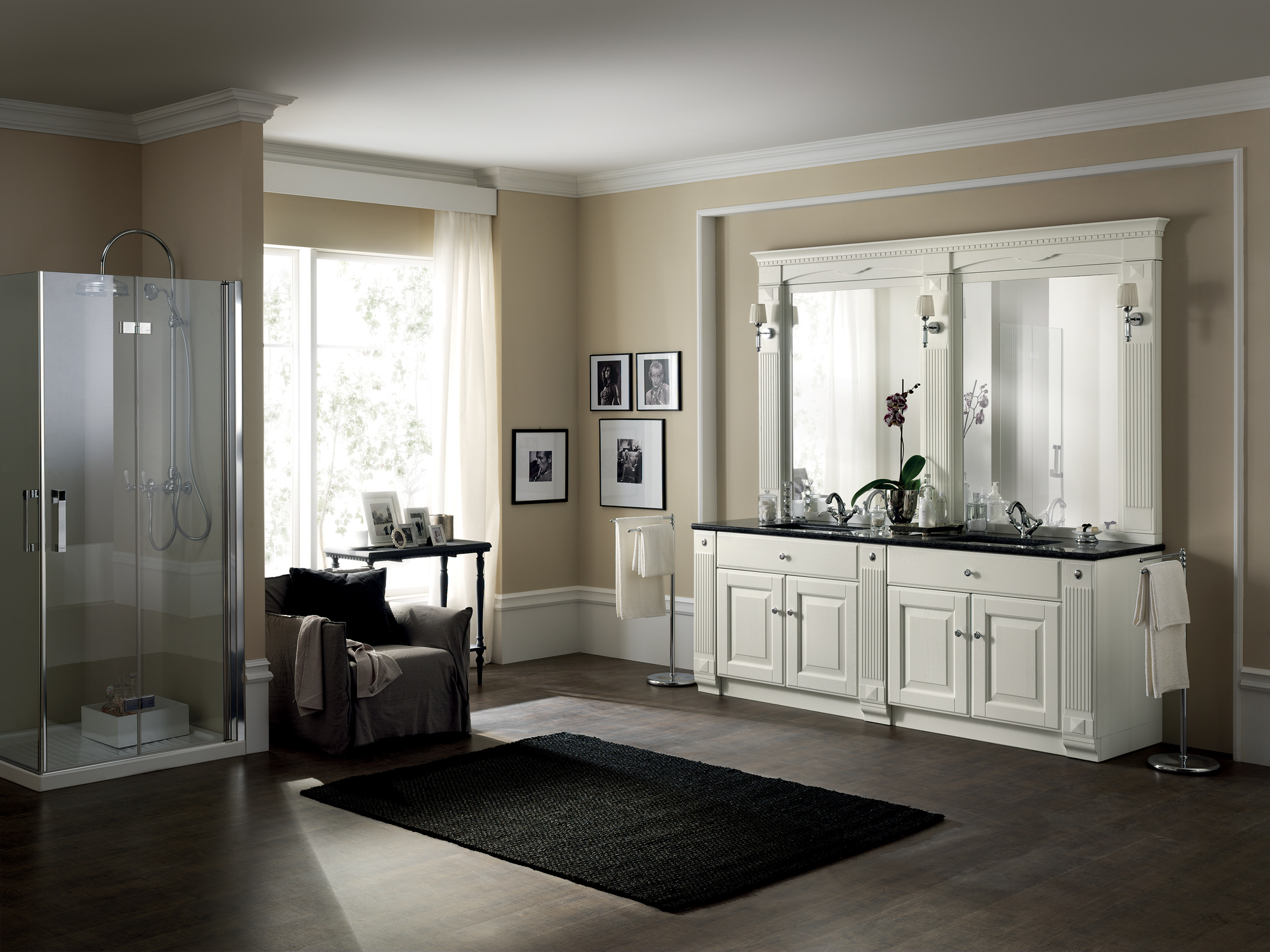 Arredo bagno completo BALTIMORA by Scavolini Bathrooms design Vuesse Design