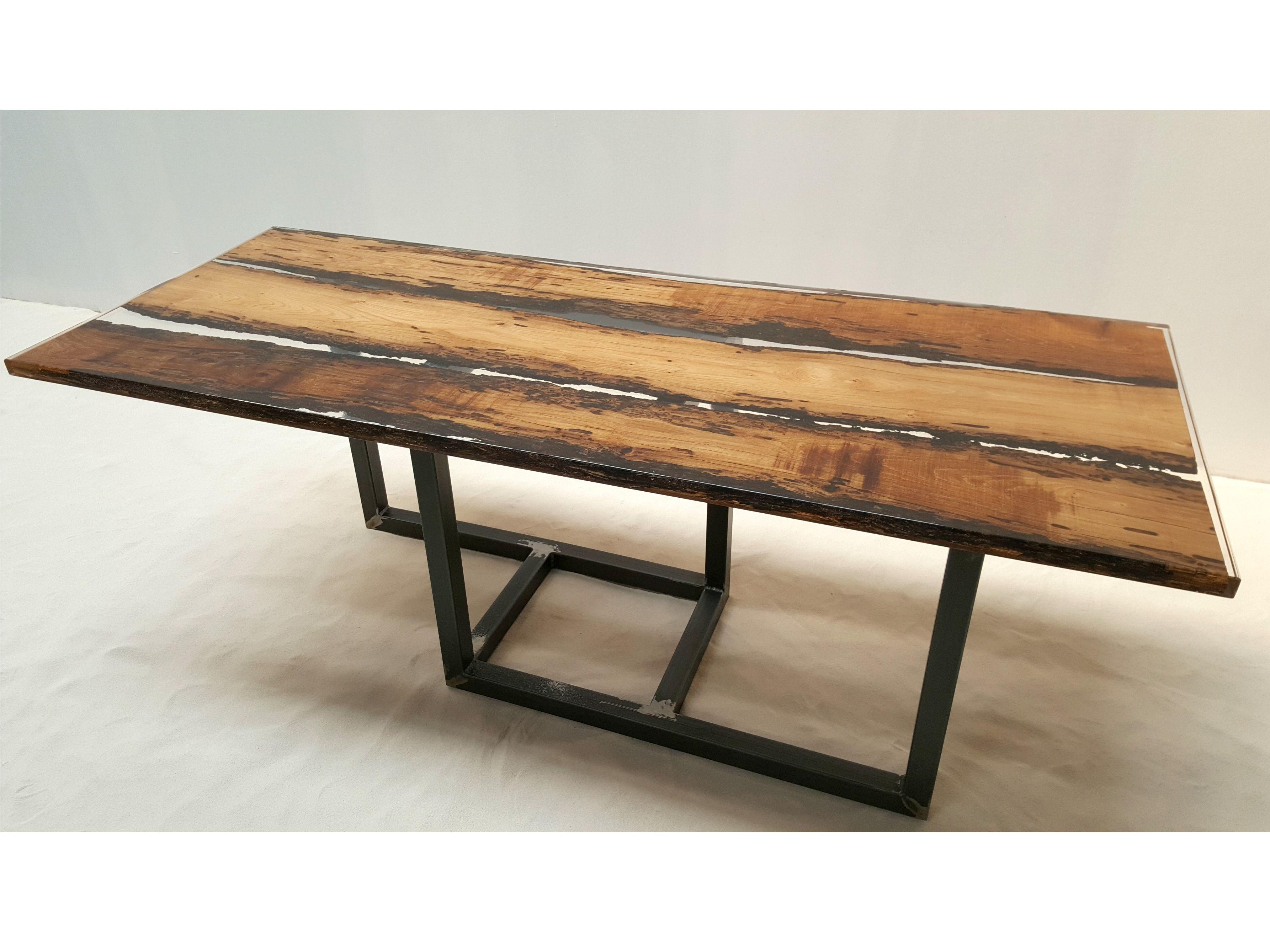 tavolo in legno di briccola by azimut resine. Black Bedroom Furniture Sets. Home Design Ideas