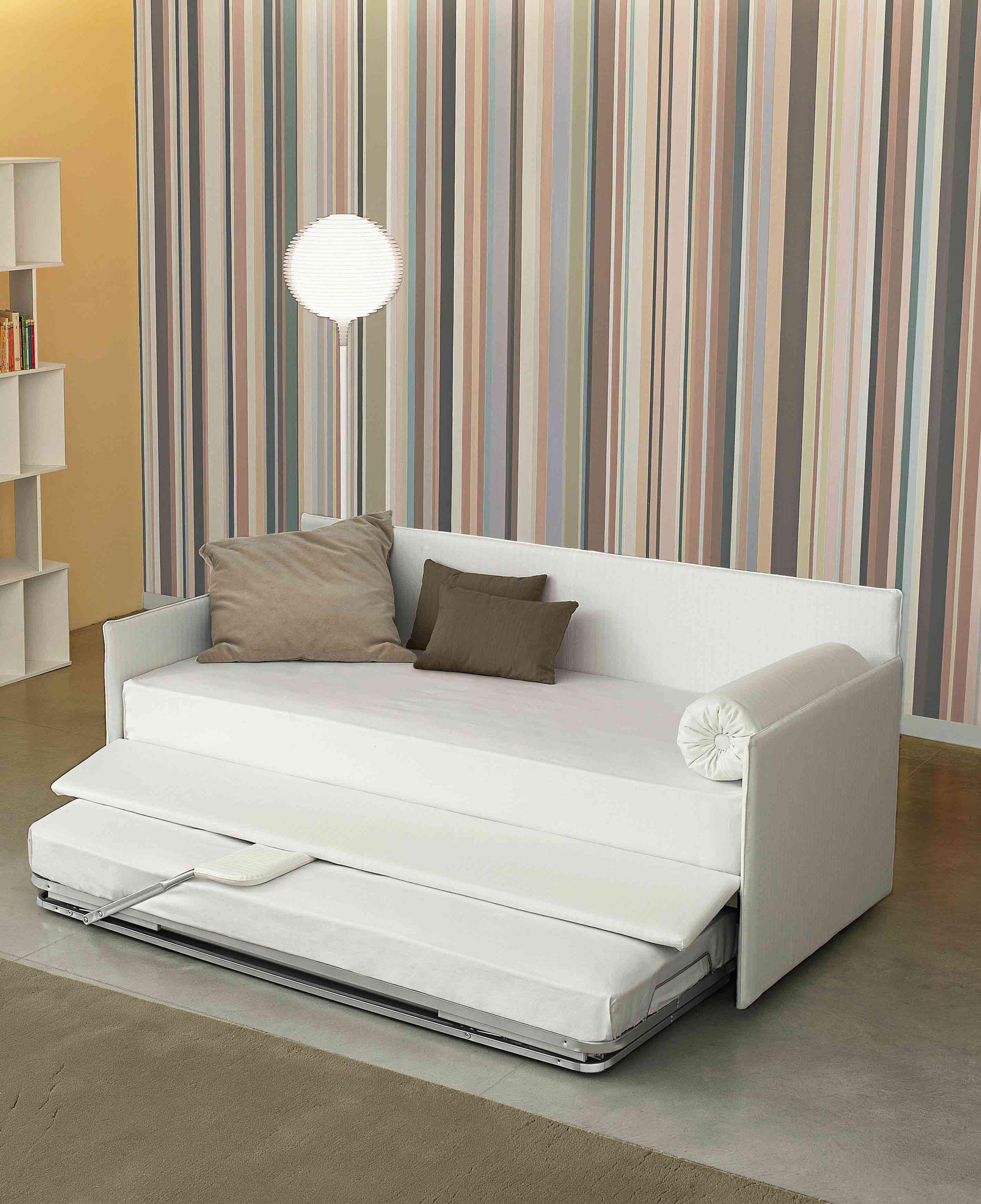 Einzelbett mit bettkasten  Gepolstertes Einzelbett mit Bettkasten CENTOUNO By Bonaldo