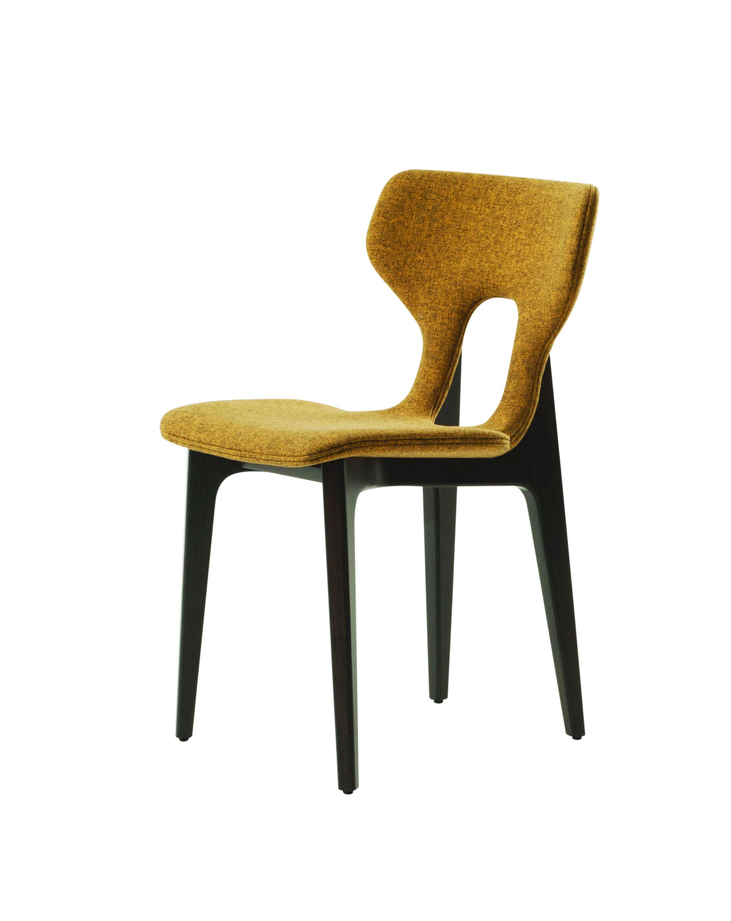 Chaise en tissu avec dossier ouvert CIRCA Collection Les ...