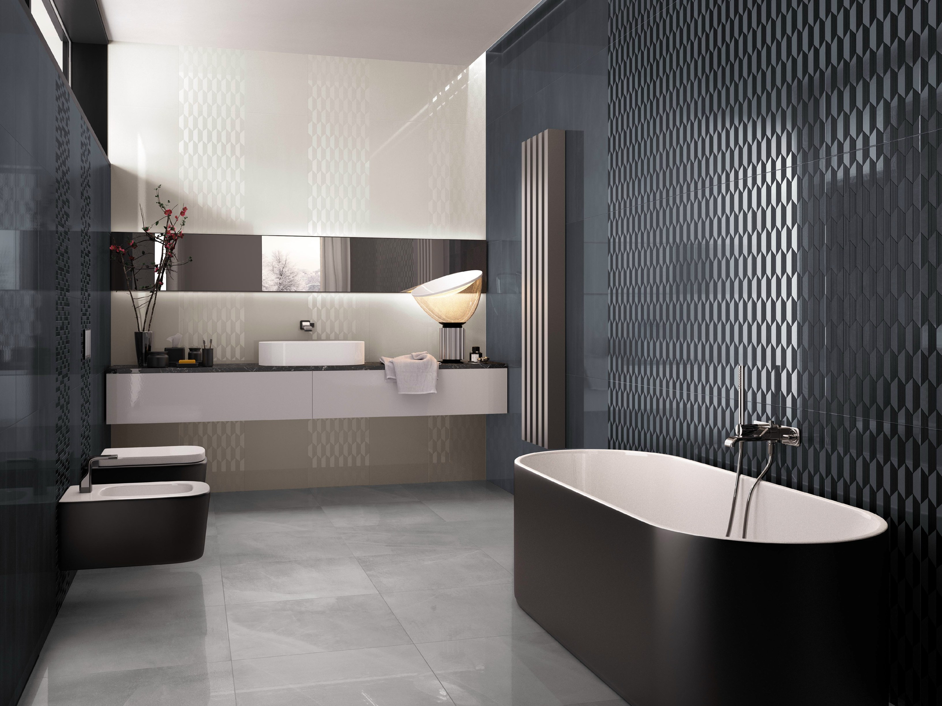 white paste wall tiles color flow by supergres. Black Bedroom Furniture Sets. Home Design Ideas