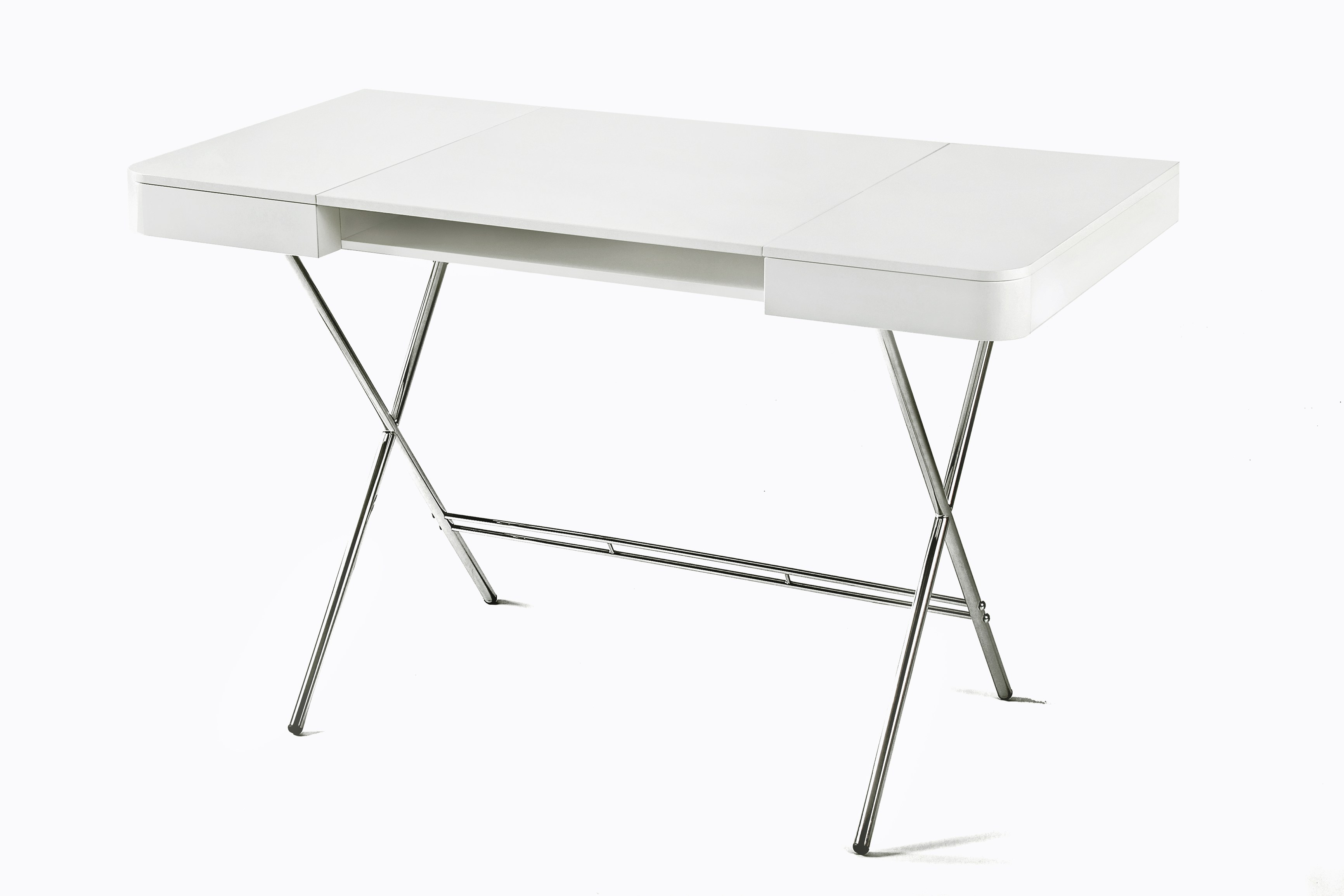 MDF Writing Desk COSIMO NOCE CANALETTO By Adentro Design Marco Zanuso Junior