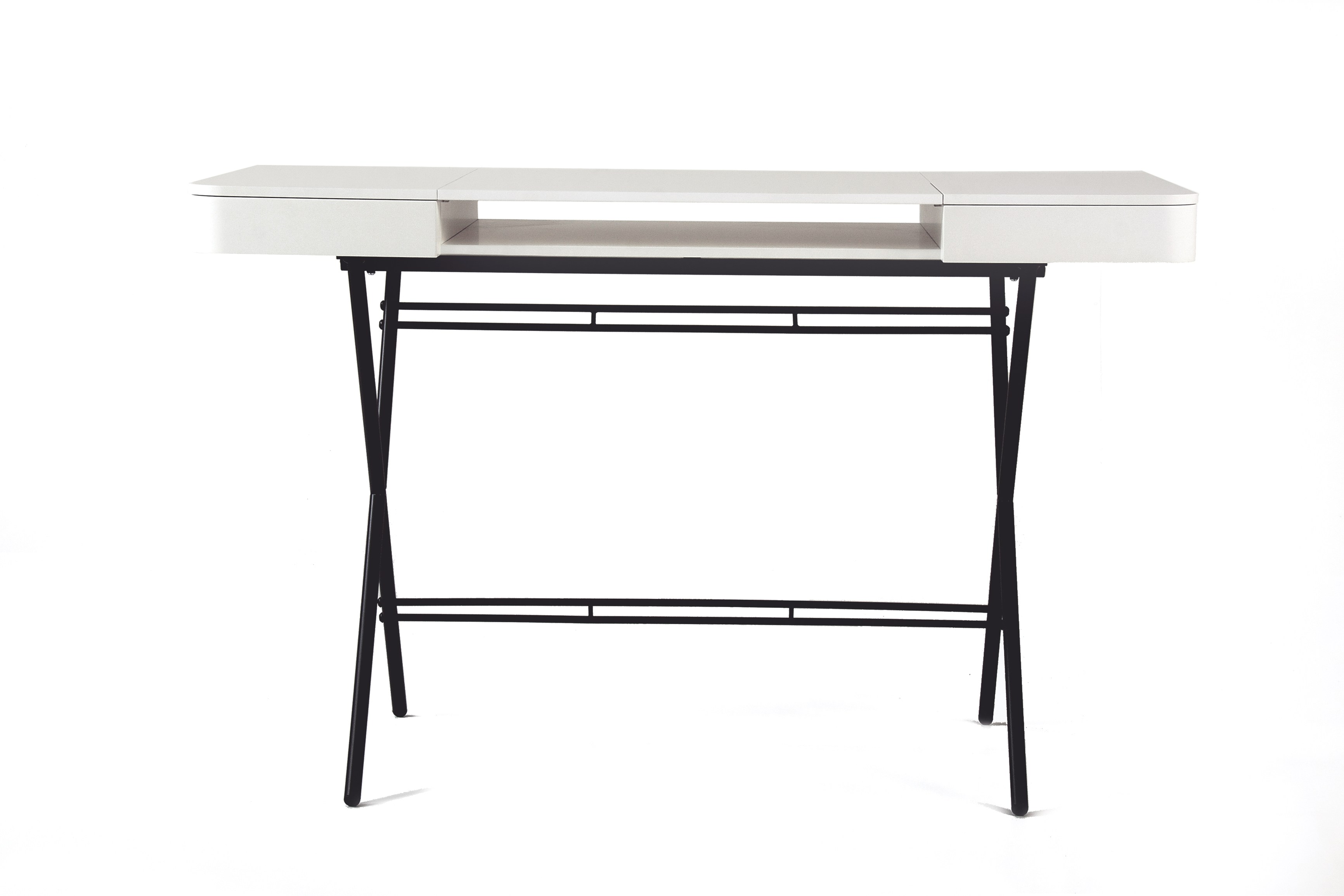 Fesselnd MDF Writing Desk With Drawers COSIMO LAQUÉ BLANC MAT   MDF Cosimo  Collection By Adentro Design Marco Zanuso