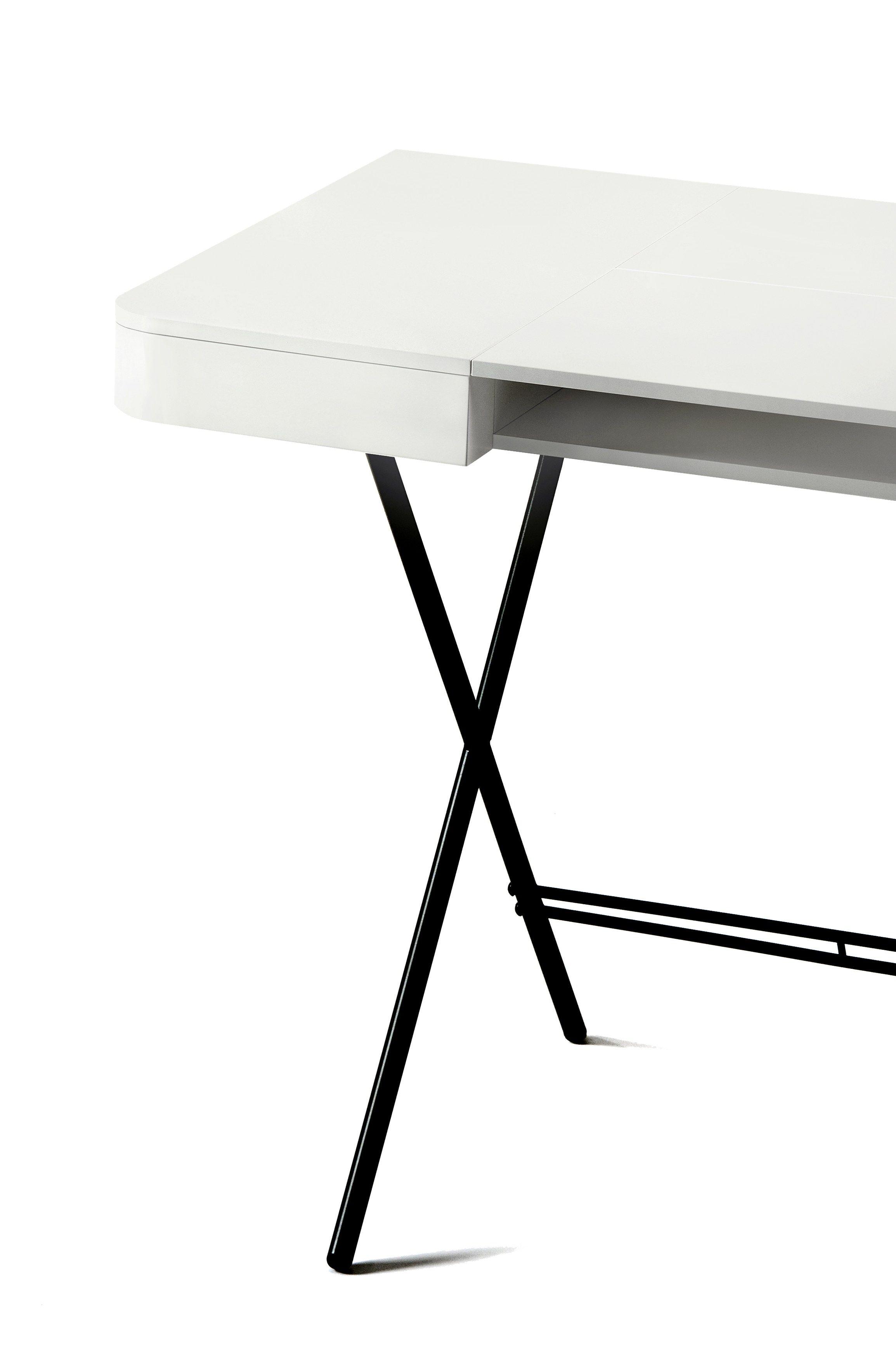 Schreibtisch Aus MDF Mit Schubladen COSIMO LAQUÉ BLANC MAT   MDF Kollektion  Cosimo By Adentro Design Marco Zanuso