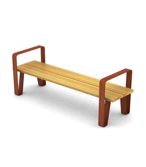 corten steel-natural wood