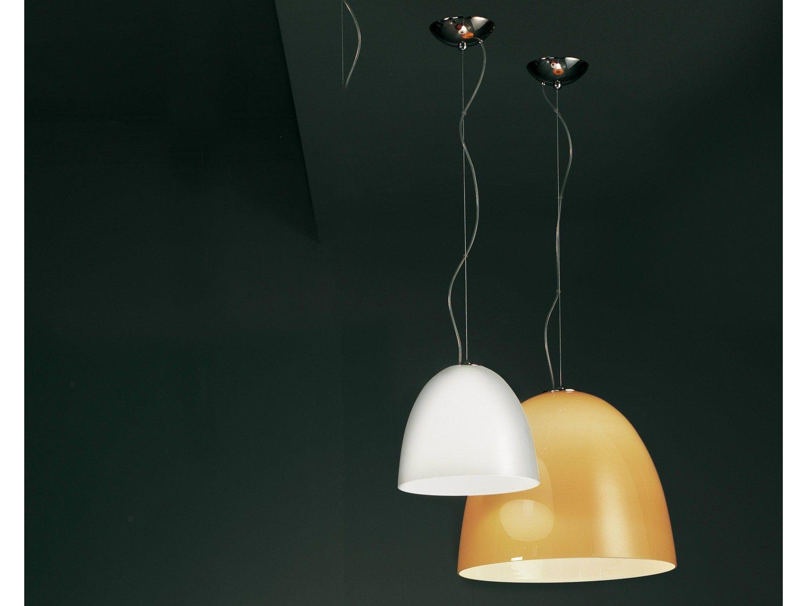 Glass pendant lamp LOLLYPOP | 16L By Lucente design Sandro Santantonio