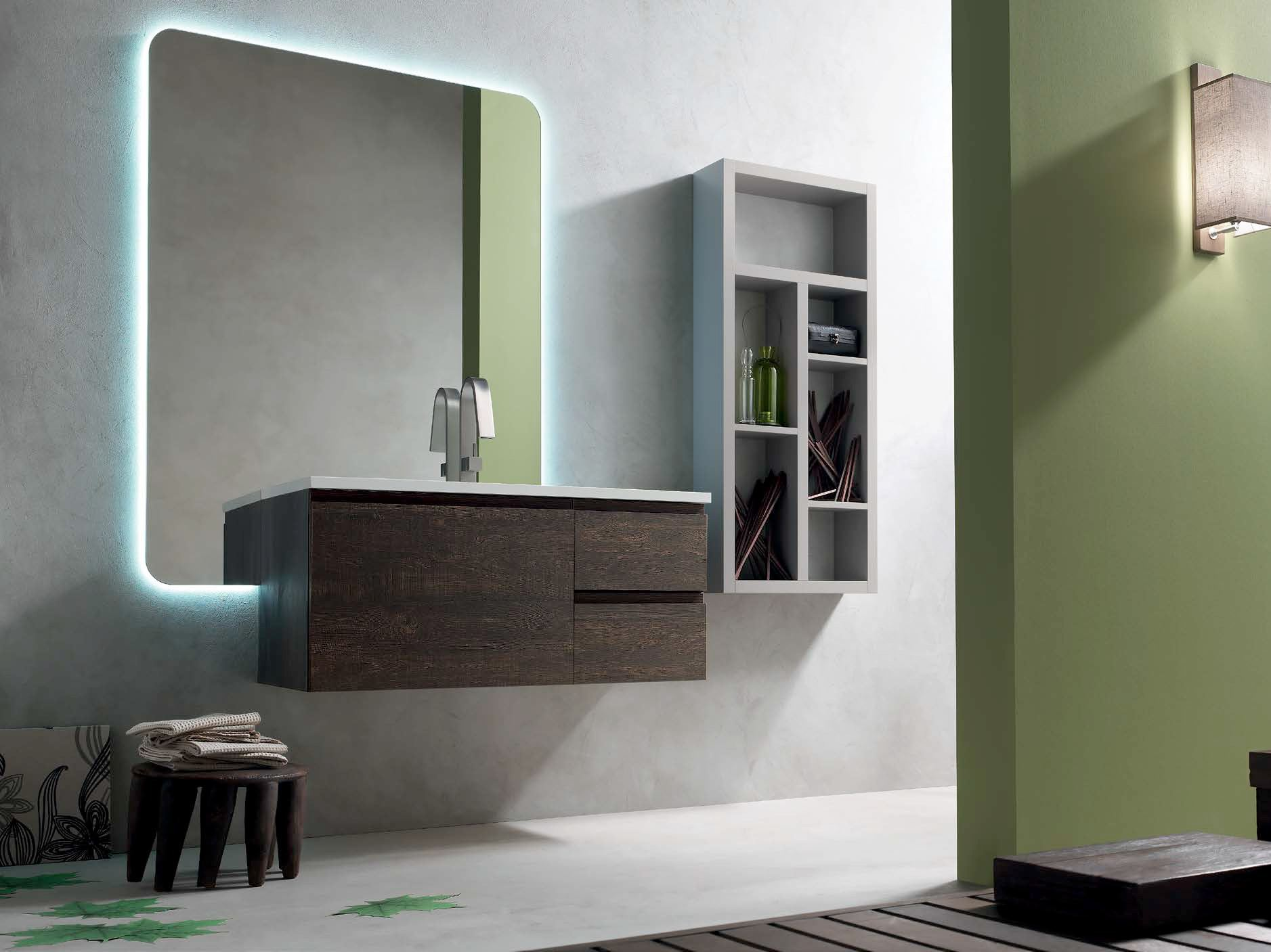 Wooden Bathroom Cabinet / Vanity Unit E.LY   COMPOSITION 41 E.Ly Collection  By Arcom